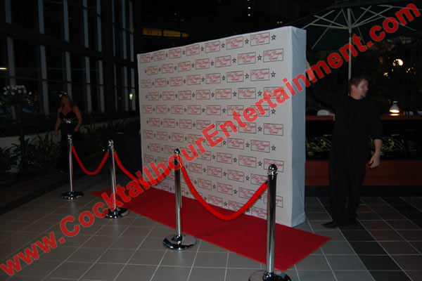 red carpet photo set up